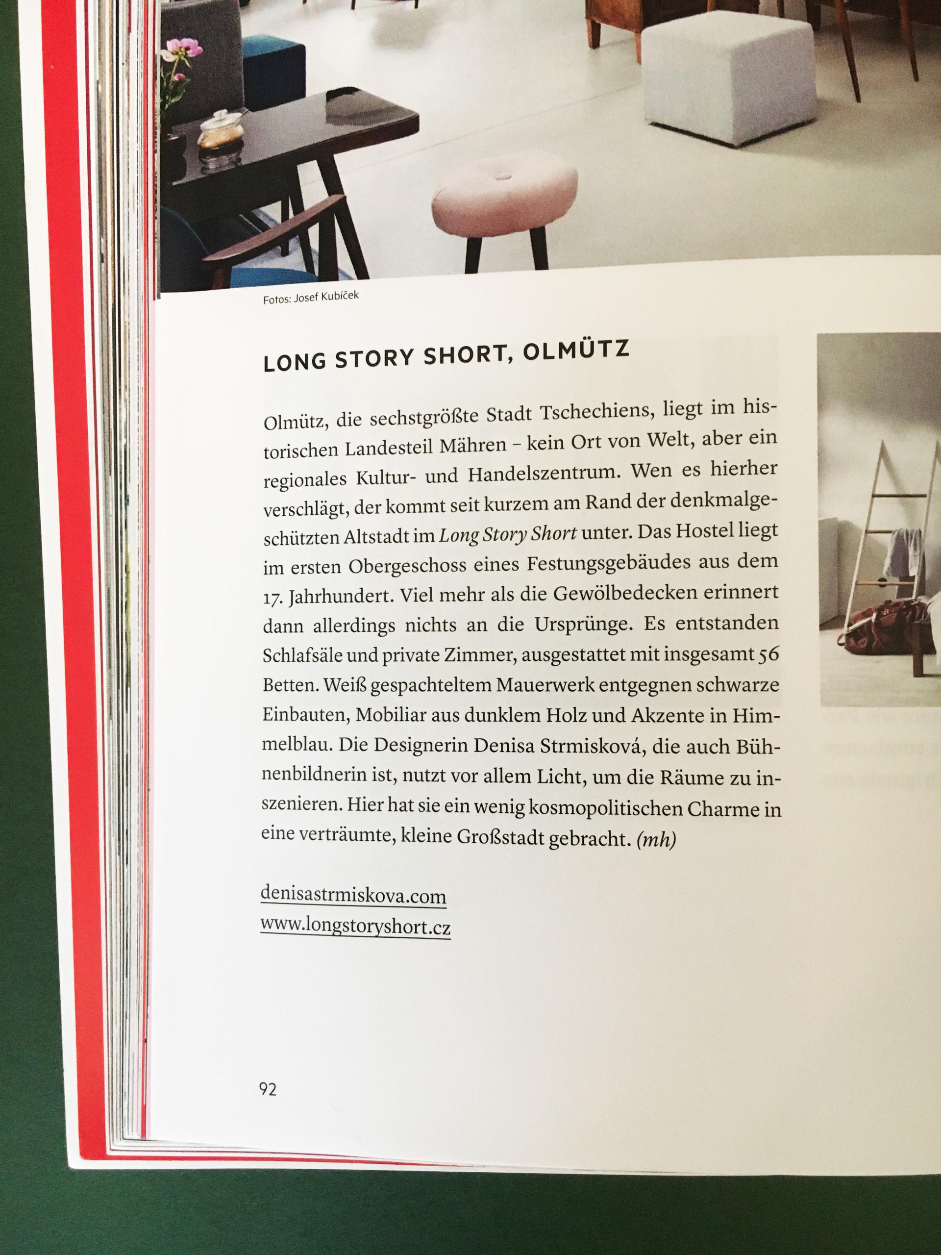 Denisa Strmiskova Studio | spatial design DEAR 4/2017