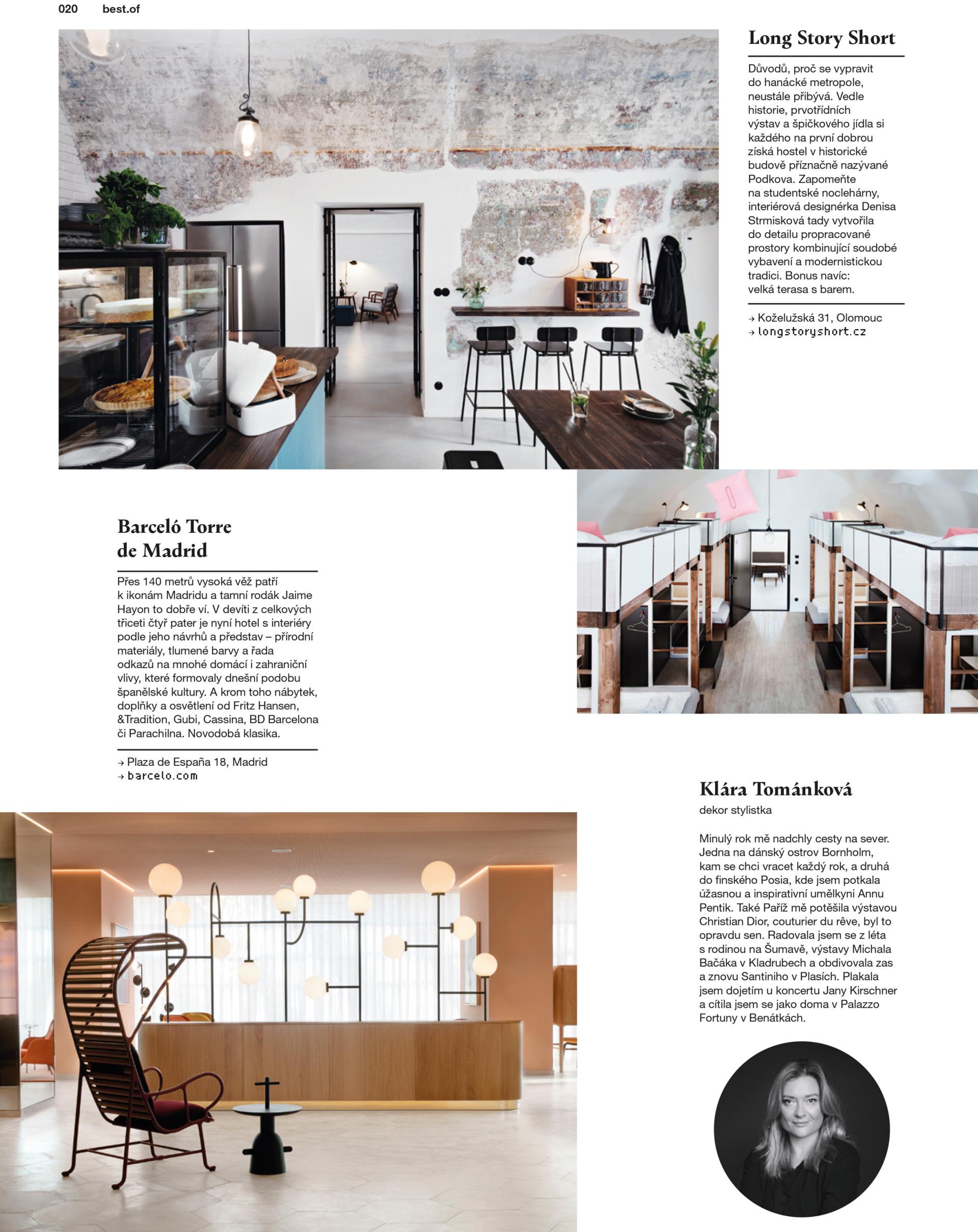 Denisa Strmiskova Studio | spatial design DOLCE VITA 1/2018