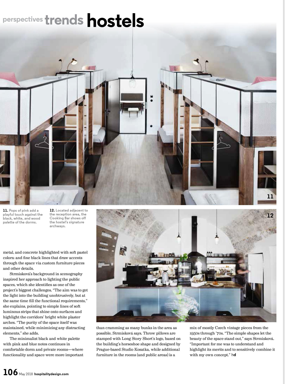 Denisa Strmiskova Studio | spatial design HOSPITALITY DESIGN MAGAZINE 05/2018