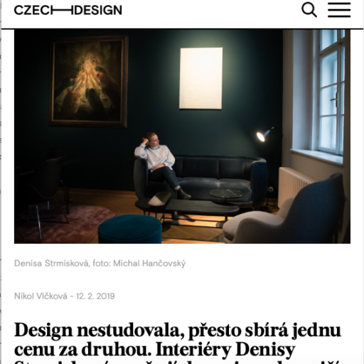 Denisa Strmiskova Studio | spatial design Press